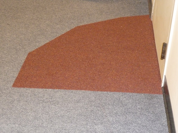Carpet repair in firehall - Finished